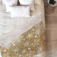 Heather Dutton Snow Squall Guilded Fleece Throw Blanket