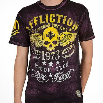 Affliction American Customs Faded Iron T-Shirt