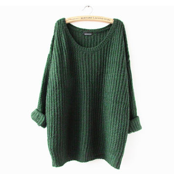 Open Shoulder Textured Sweater