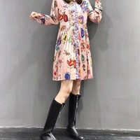 """""""Valentino"""" Women's Fashion and Leisure Long Sleeve Printed Dress"""