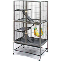 Walmart: Prevue Pet Products Feisty Ferret Home with Stand, Black Hammertone