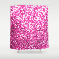 Pink sparkles Shower Curtain by Hannah