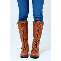 Take Me For A Ride Boots: Cognac