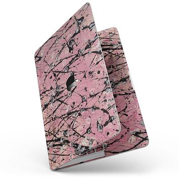"""Abstract Wet Paint Pink and Black - 13"""" MacBook Pro without Touch Bar Skin Kit"""