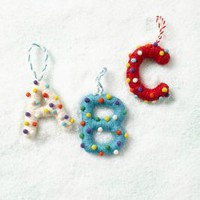 Pop Dot Monogram Ornament by Anthropologie Assorted