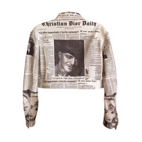 "Dior by John Galliano Rare Fall 2000 ""Christian Dior Daily "" Newspaper Jacket"
