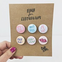 Flair for Curmudgeons Button 6-Pack - As If!