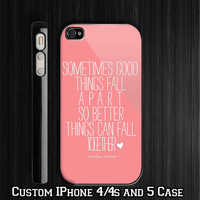 Marilyn Monroe Quote - Better - Mint - Pink Custom iPhone 4 4S case, iPhone 5 Case, Samsung Galaxy S2 case, Samsung Galaxy S3 case