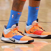 NIKE PG 3 NASA Trending Men Leisure Running Sport Shoes Basketball Sneakers Orange&Blue