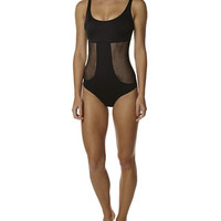 GINJA SHIMMY SHAKE TANK MAILLOT ONE PIECE - BLACK