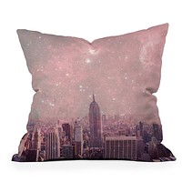 Bianca Green Stardust Covering New York Throw Pillow
