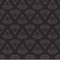 Removable Wallpaper - Black Diamonds Are Forever