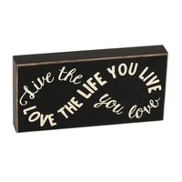 Live And Love Infinity Sign Plaque