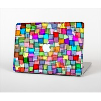 The Vibrant Colored Abstract Cubes Skin Set for the Apple MacBook Air 11""