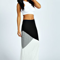 Kirstin Colour Block Maxi Skirt