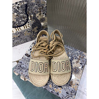 DIOR  Women Casual Shoes Boots fashionable casual leather Women Heels Sandal Shoes
