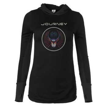 Vinyl Icons Journey Don't Stop Believin' VIJY-020C Women's Long Sleeve Thumbhole Hoodie