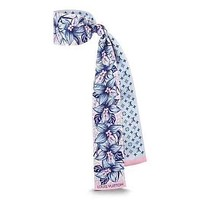 Onewel LV 2019 new fashion female models floral double-sided small scarf Blue