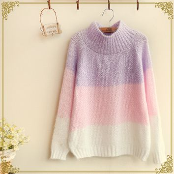 Japanese simple knitted sweaters