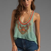6 SHORE ROAD Nuri Beaded Crop Top in Bay from REVOLVEclothing.com