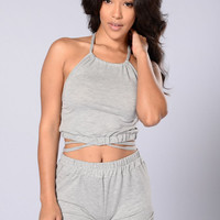 Not Your Babe Shorts - Heather Grey