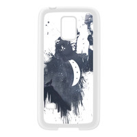 Wolf Song 3 White Silicon Rubber Case for Galaxy S5 Mini by Balazs Solti