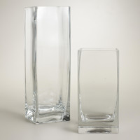 Clear Glass Square Vases - World Market