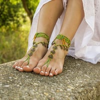 Hippie bottomless sandals Beach wedding barefoot sandals Footless sandles Foot jewelry barefoot sandal Boho barefoot sandals Gypsy shoes