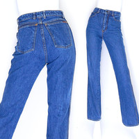 Sz 4 High Waisted Sasson Jeans - 70s to 80s Vintage Women's Slim Fit Straight Leg Mom Jeans - 26 Waist