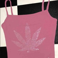 SWEET LORD O'MIGHTY! 420 PRINCESS TANK IN PLUM