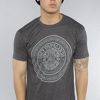 The Psychedelic Records 50/50 Heather Tee in Charcoal Heather
