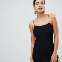 Boohoo Thigh Split Micro Mini Bodycon Dress at asos.com