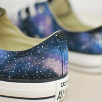 Hand Painted Galaxy Chuck Taylor All Star Converse - Low tops