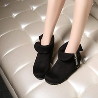 Rhinestone Ankle Boots Women Shoes Fall Winter 7843
