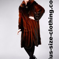 Mink Fur Long Full Over Coat