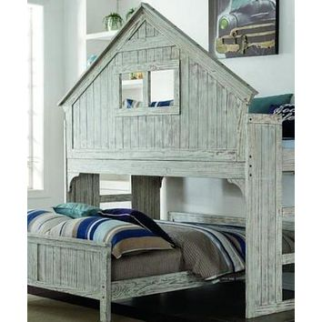Ethan Distressed Twin over Full Tree House Bunk Bed