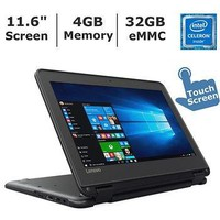 11.6-inch Touchscreen 2-in-1 Laptop, Intel  N3060, 4GB Memory, 32GB eMMC, Windows 10 Pro