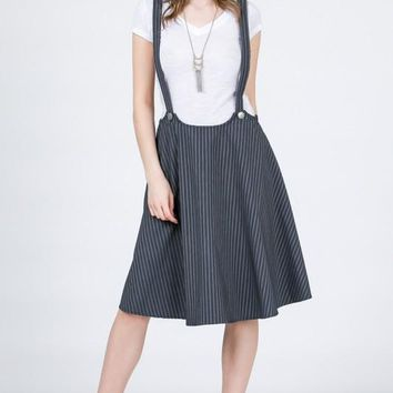 Overall Romper Skater Skirt Dress