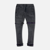 Strapped Up Slim Utility Pant Vintage Wash Purple