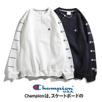 Champion autumn and winter models men and women couples stringed sets of head round neck sweater