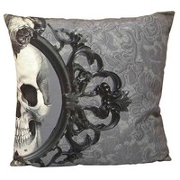 Two Halves Make a Whole Skull Decorative 20 x 20 Inch Throw Pillow Cover Cushion Case