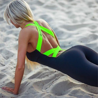 Hot sale Europe and America Autumn Winter Gym Fitness Clothing Suit Women Running Tight Jumpsuits Sports Yoga Sets Promotion