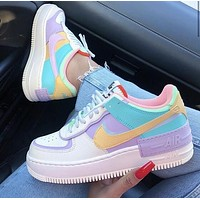 Nike Air Force 1 Shadow Tropical Twist Fashionable Women Leisure Sport Running Shoes Sneakers