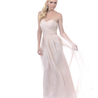 2013 Homecoming Dresses - Champagne Sweetheart Crossover Strapless Long Dress - Unique Vintage - Prom dresses, retro dresses, retro swimsuits.
