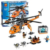 New Arctic Helicrane CITY Set Helicopter Husky Compatible with Legoings Model Building Block Toys for Children Christmas Gift
