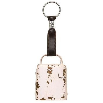 Aged White Rustic Cowbell