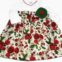 Baby  Dress , Christmas  Dress,  Holiday Baby Clothes, Bodysuit Dress