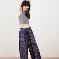 Felicity Mandala and Paisley Faux Wrap Pants