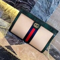 GUCCI retro personality wild chain small square bag handbag shoulder Messenger bag