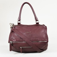 "Givenchy Purple ""Sugar"" Leather ""Medium Pandora"" Satchel Bag"